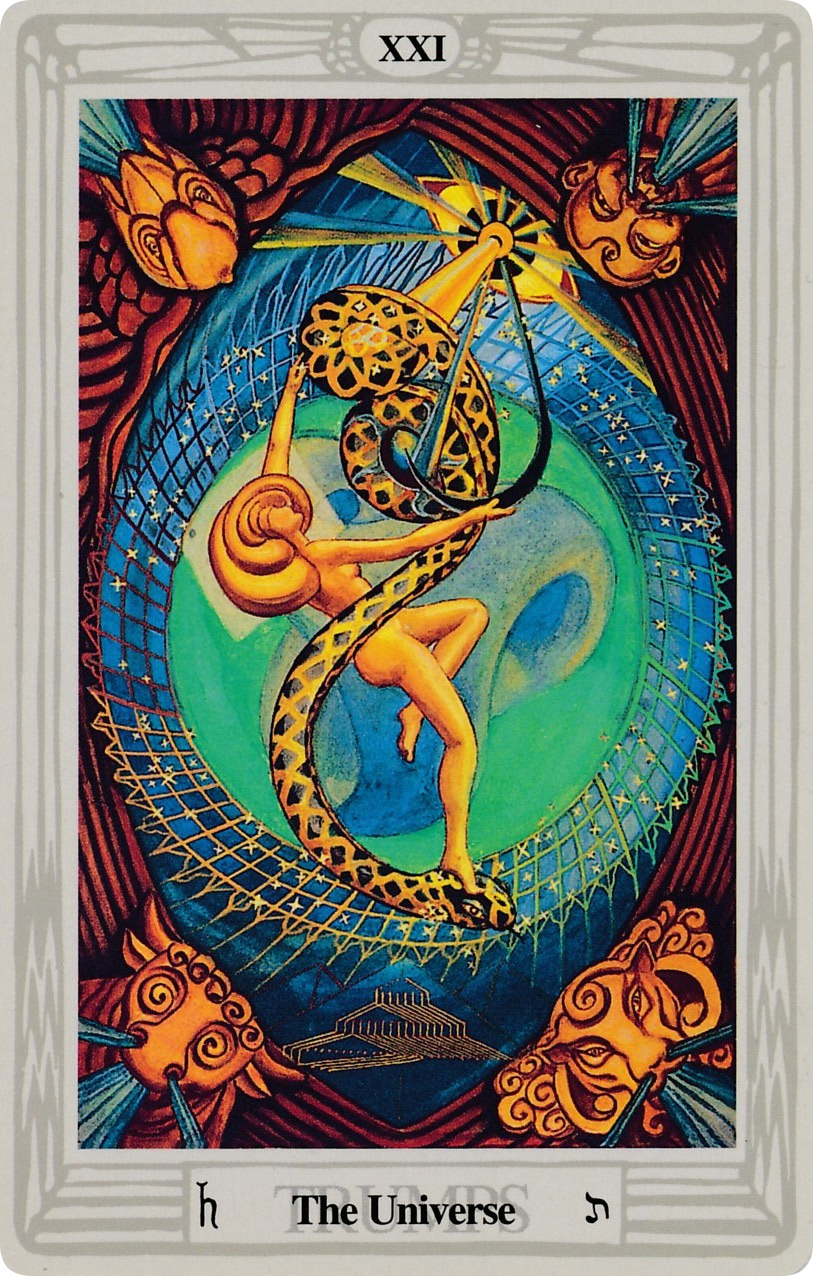 Image result for atu xxi thoth tarot