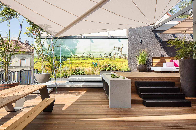 Outdoor Küche Wien : The son grenzenloses citypenthouse mit pool outdoor küche und