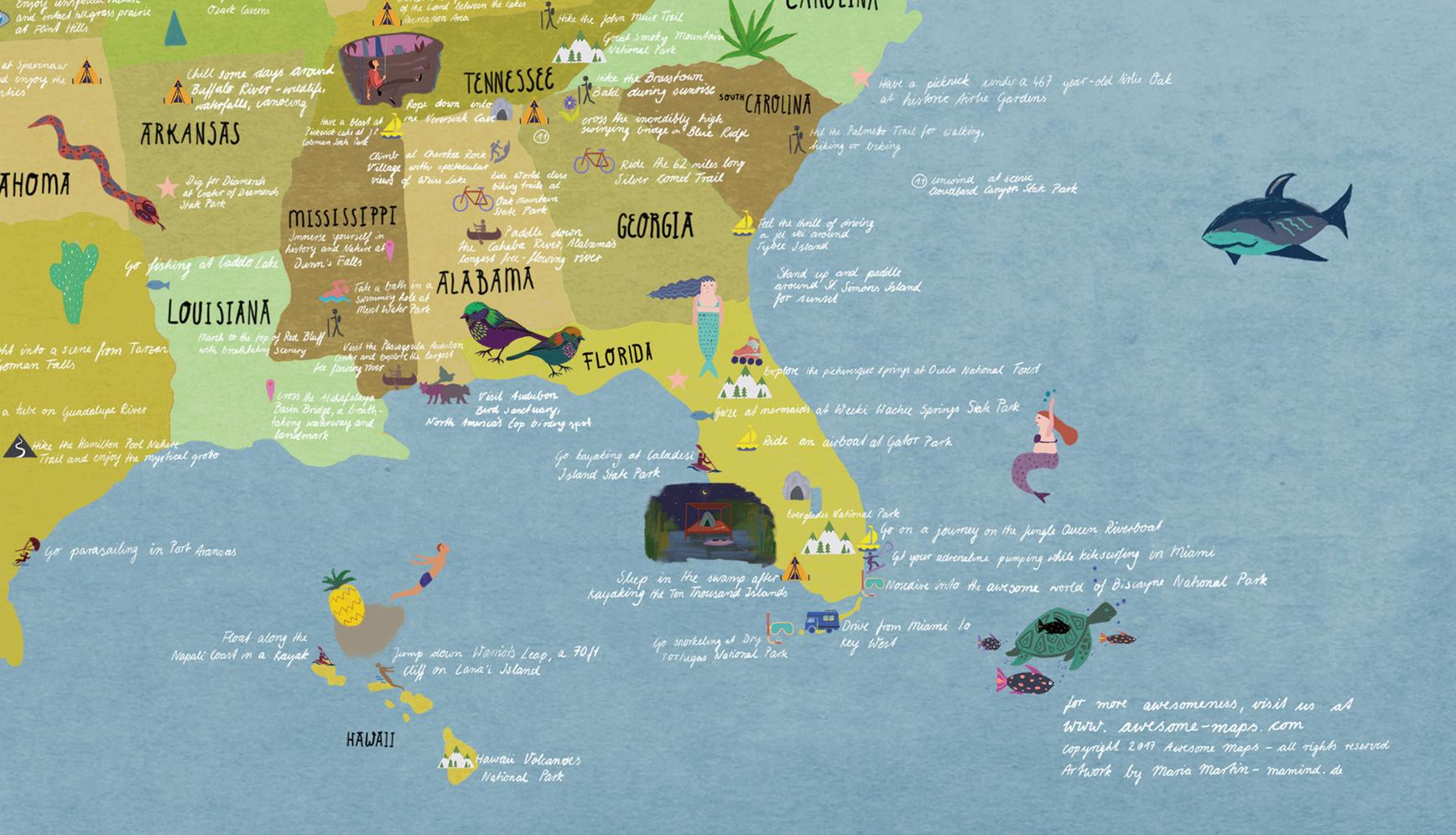 USA Map - mamind