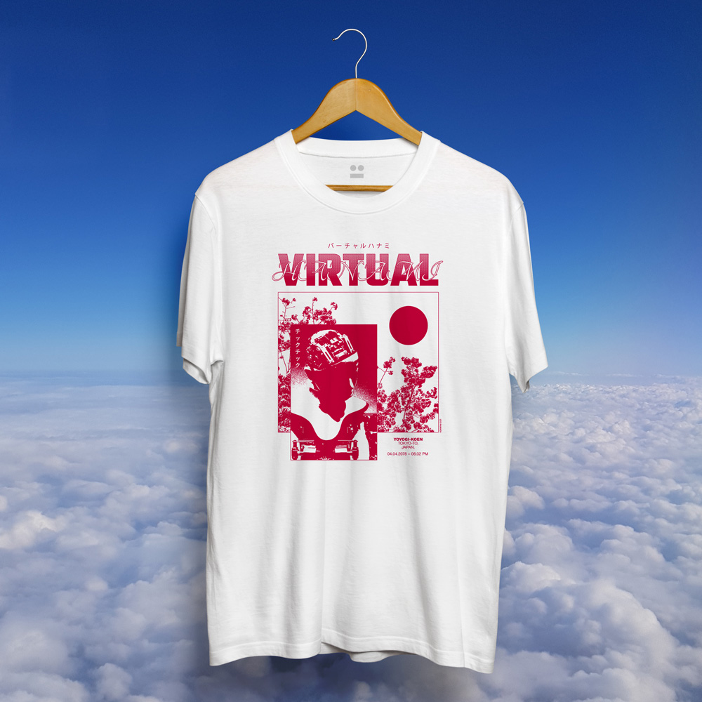 Virtual Hanami T-shirt Leo Ramaen