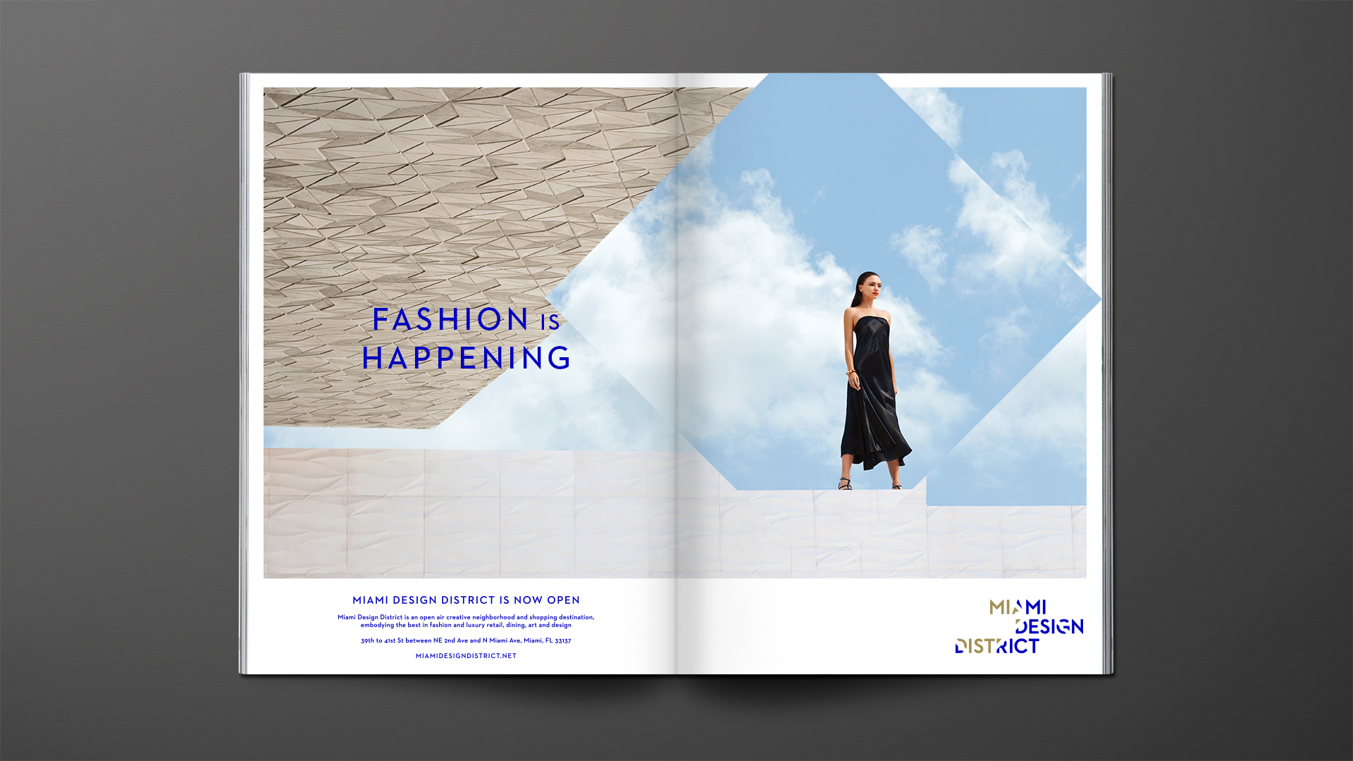 Prev / Next (1 of 1). Art direction and editorial advertising for Miami Design District's ...