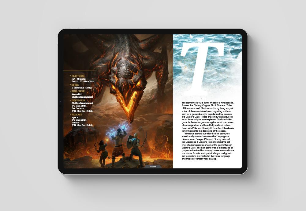 Game Informer Magazine Pillars Of Eternity Ii Deadfire