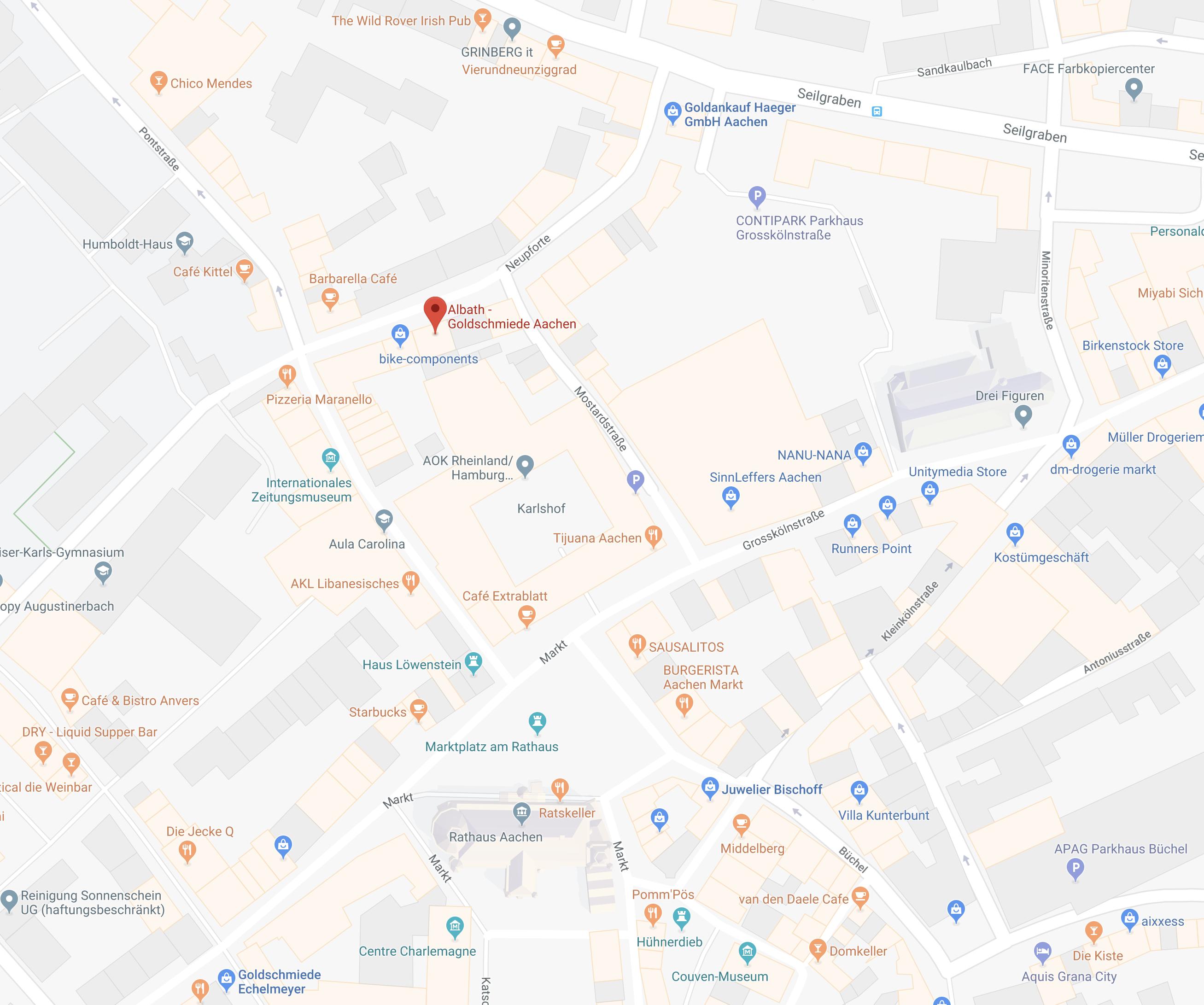 Kontakt Und Anfahrt Trauringe Und Verlobungsringe Albath In Aachen
