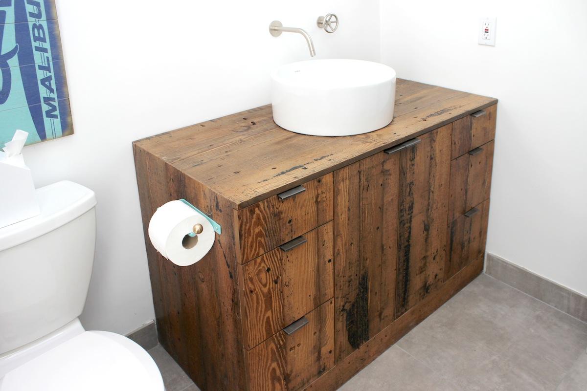 Silverlake Residence Bathroom Vanity Treeline Made In Los Angeles