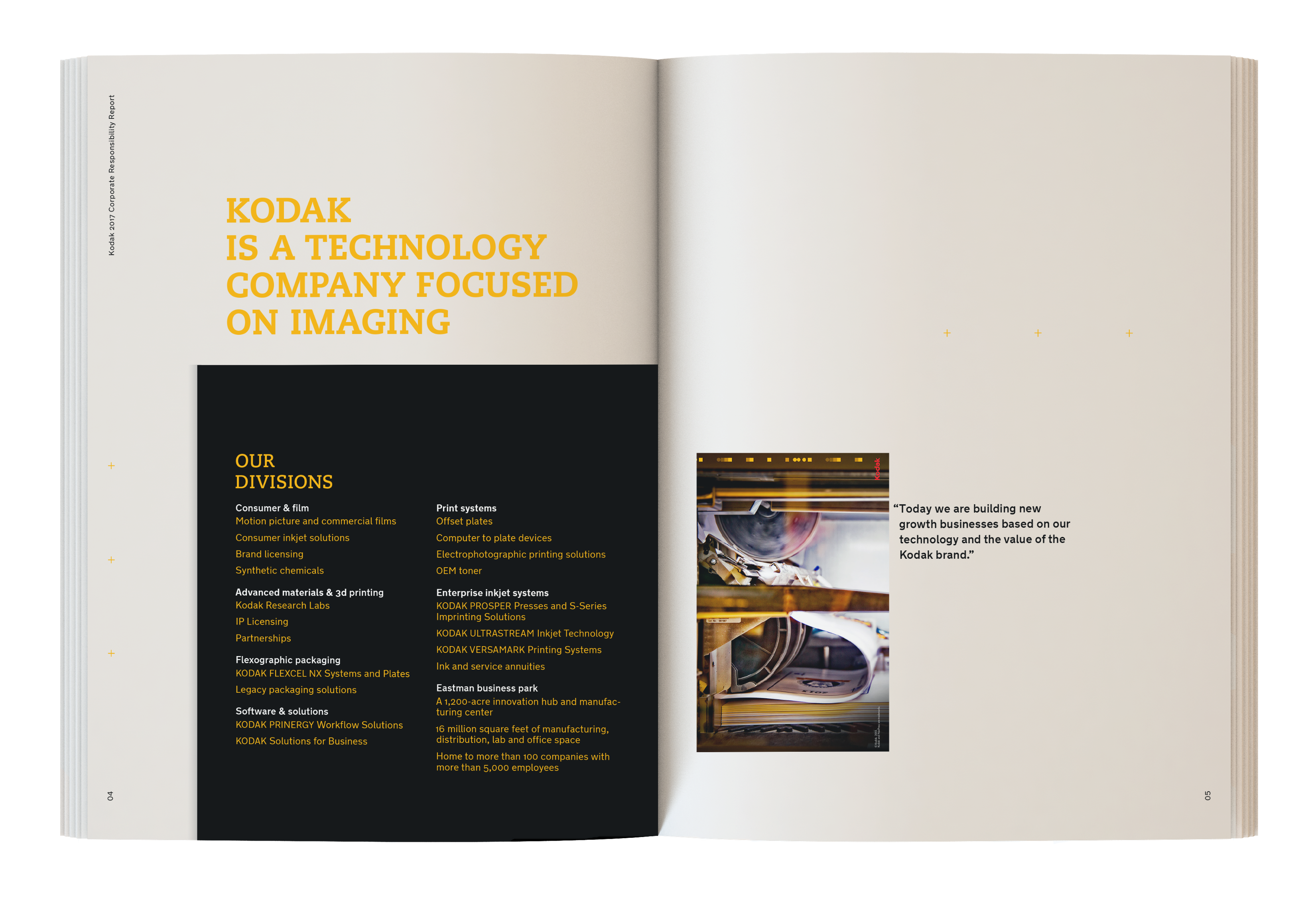 a corporate social responsibility report for kodak  - evonne