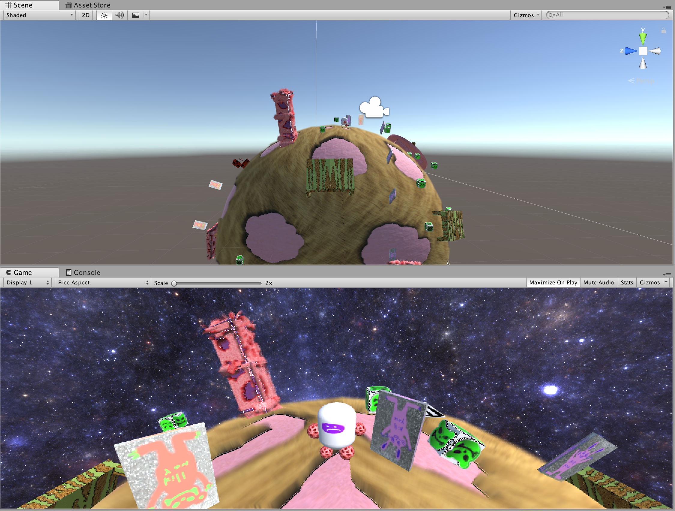 Unity - 3D Explorational Game - Pin Yu Chen