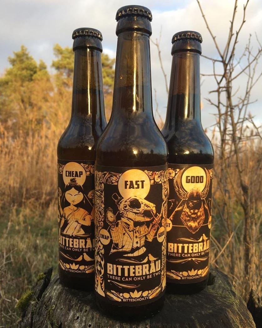 Bittebräu - beer label illustrations - Alexander Gellner