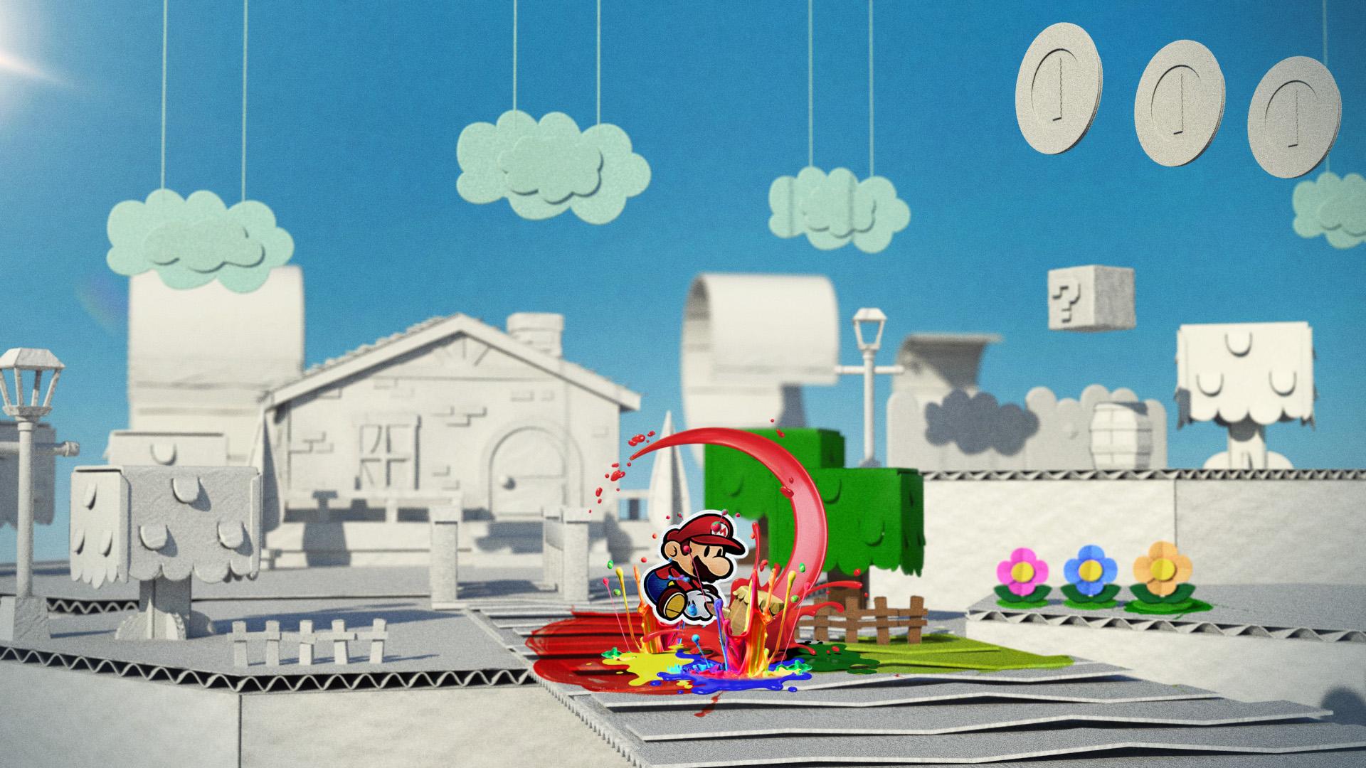 Paper Mario Color Splash Commercial Helen Hsu Portfolio