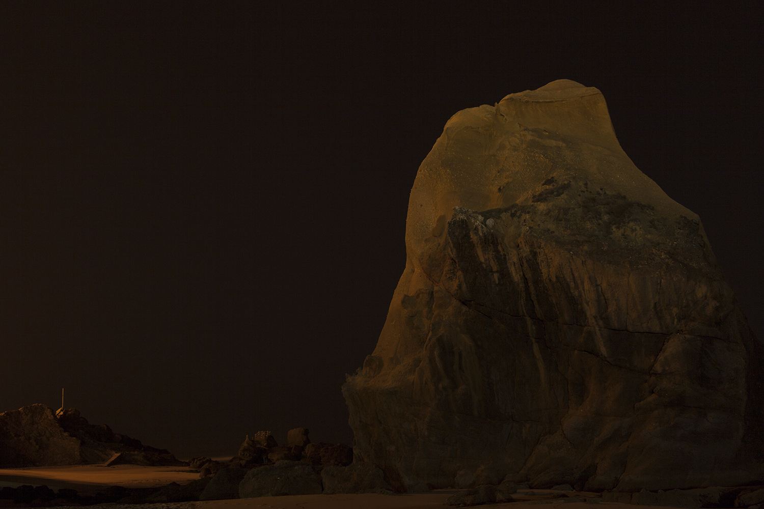 carina martins, we wander in circles through the night  and are consumed by fire - boulder at night