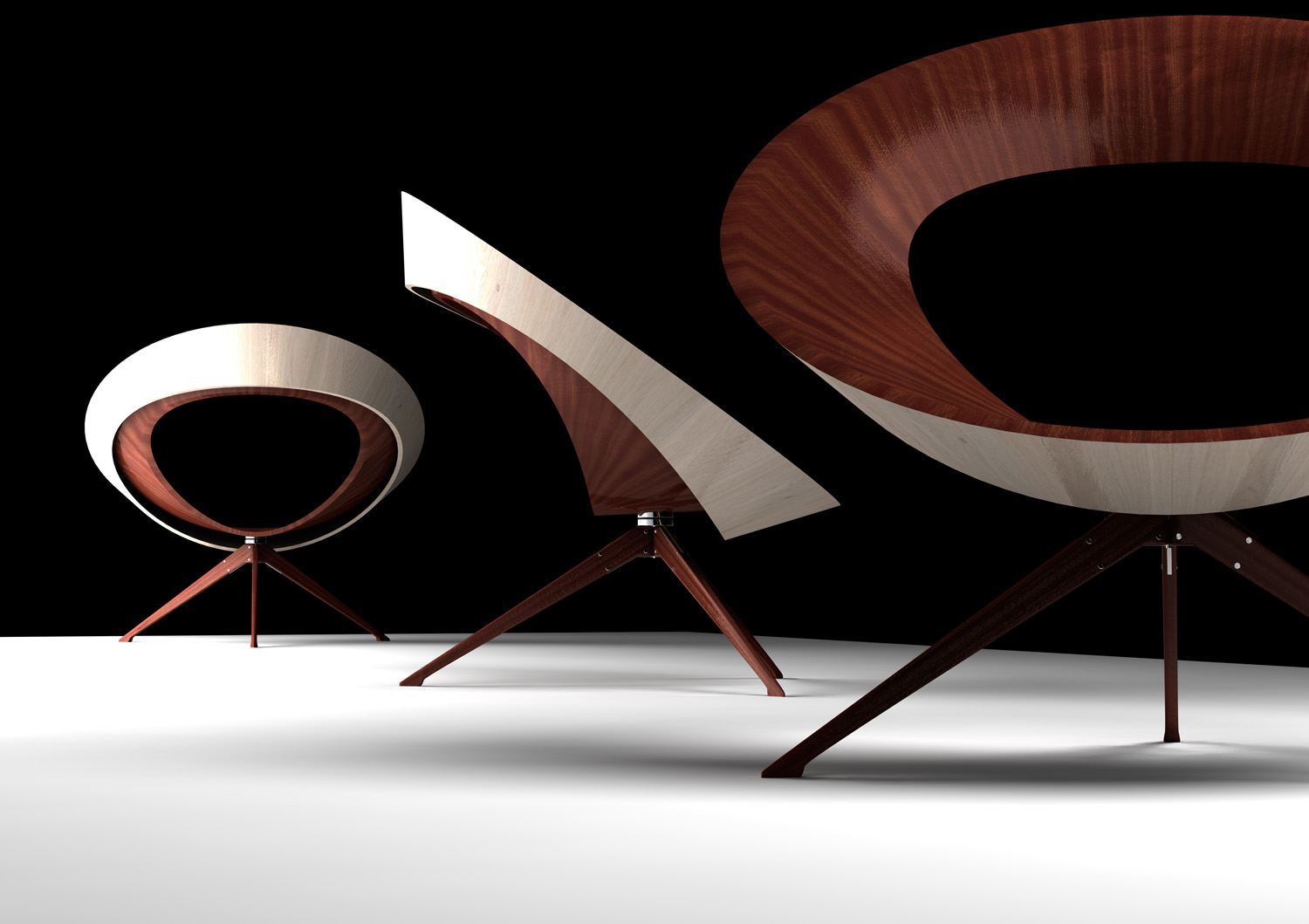 Bowl Chair 2006. Mahogany Mahogany ply Birch ply and steel. & Bowl Chair - tierneyhaines2