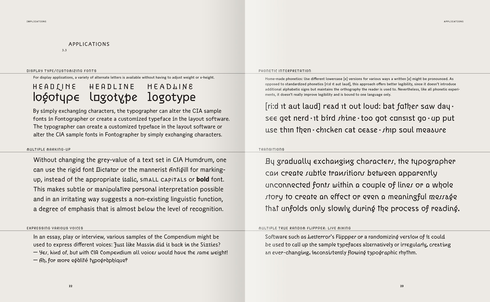 Compendium of Alphabets: An encyclopedic typeface system  - Jens
