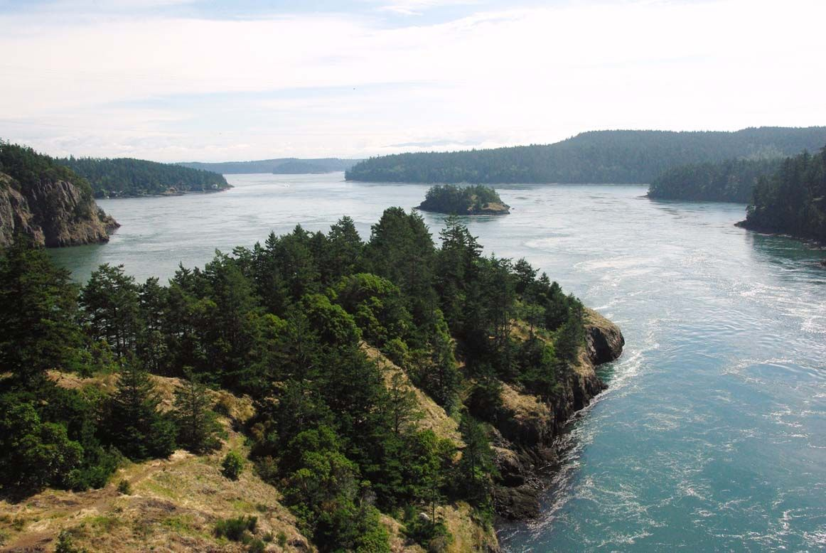 """A beautiful peninsula and bay in Puget Sound, near Captain Whidbey Inn."