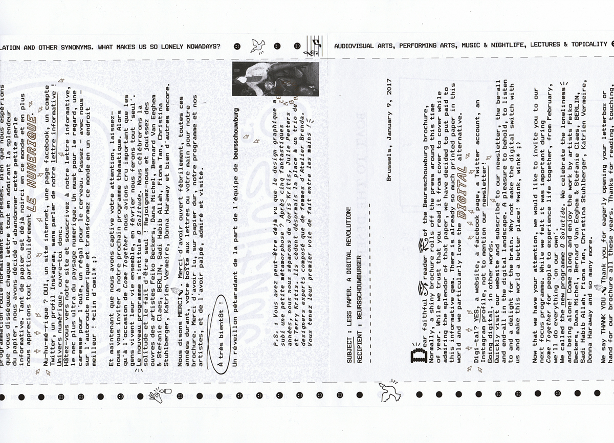 17 — INVITE, BEURSSCHOUWBURG, NO MORE PAPER - brenda