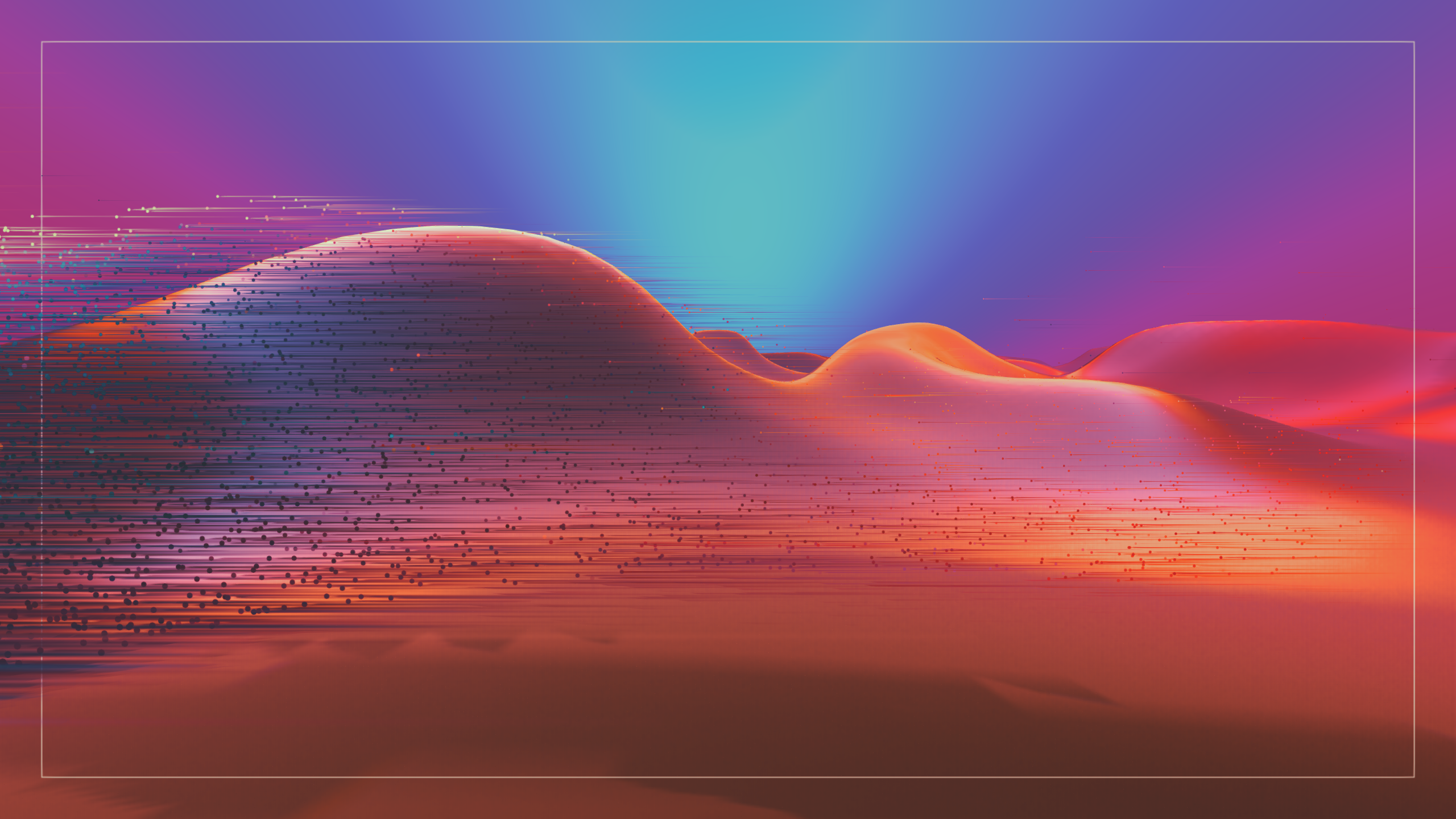Datascape - Alex Le Guillou, live , real time motion graphics