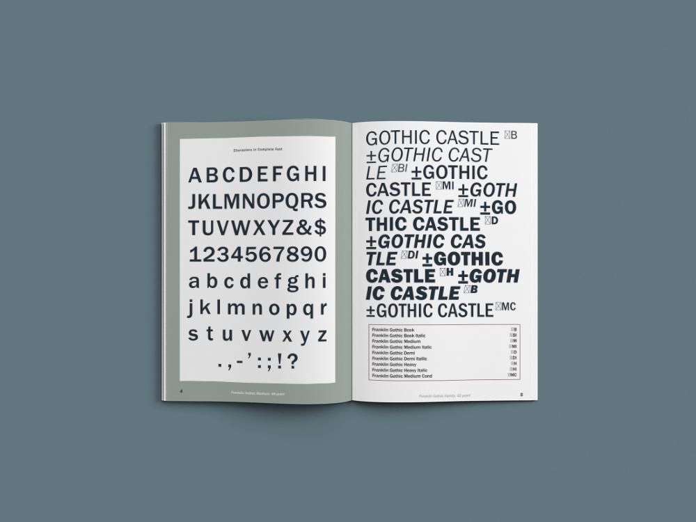Franklin Gothic Specimen - _Taylor_Wessling_