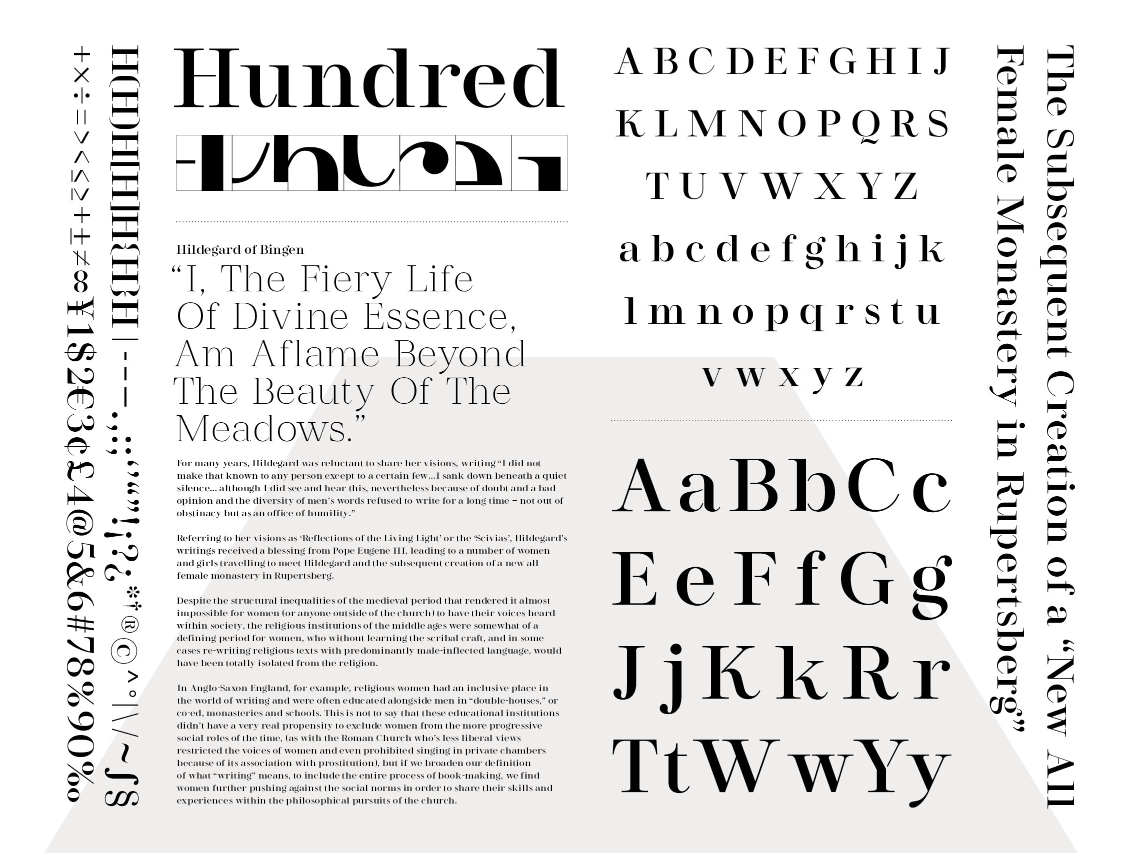 Opuntia Display Font Design - yuansudesign