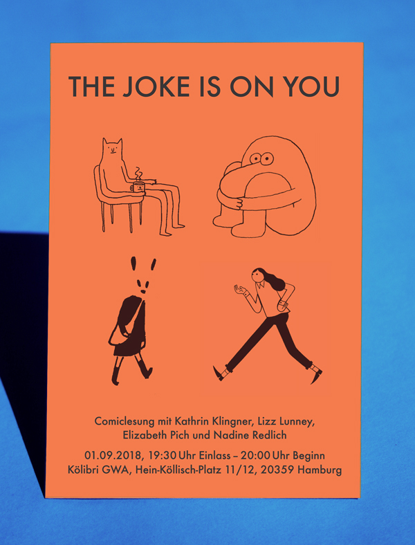 The Joke is On You Comic Reading Hamburg - Elizabeth Pich