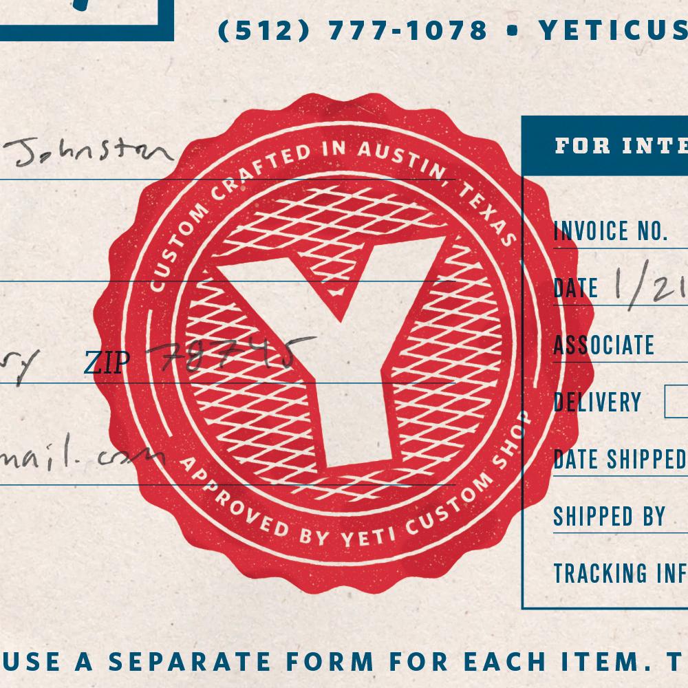 YETI - Stu Taylor Graphic Design Portfolio