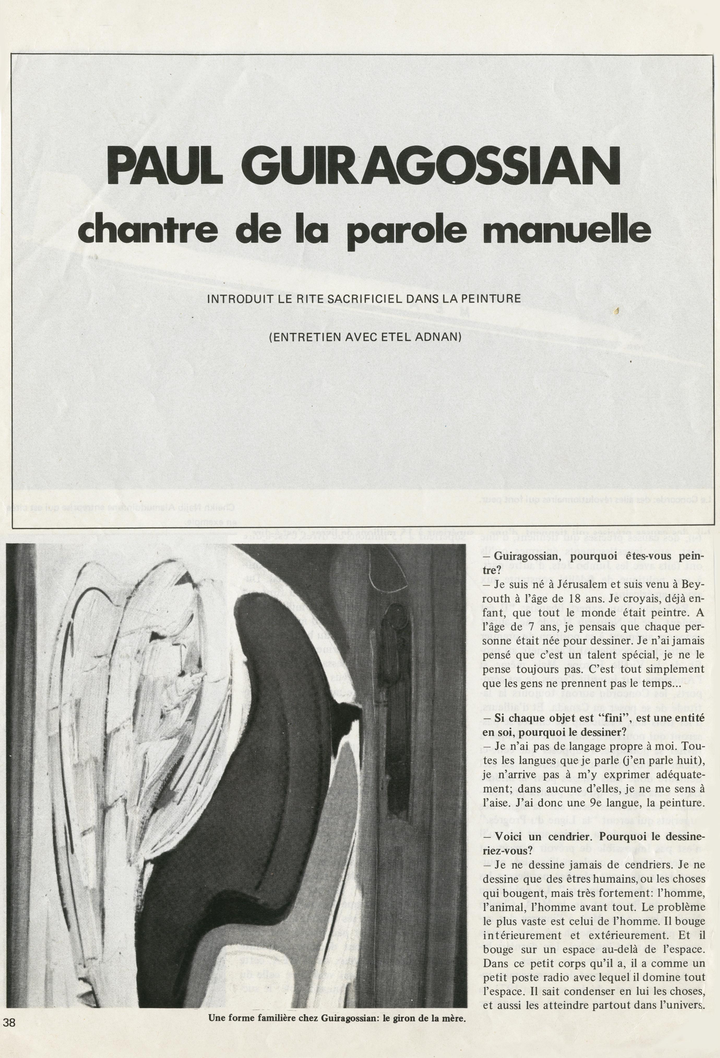 Www Un Temps Pour Elles Com etel adnan's three questions for paul guiragossian - mandy