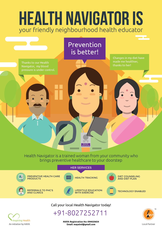 MAYA - Health Navigator Posters - Subhankar Das