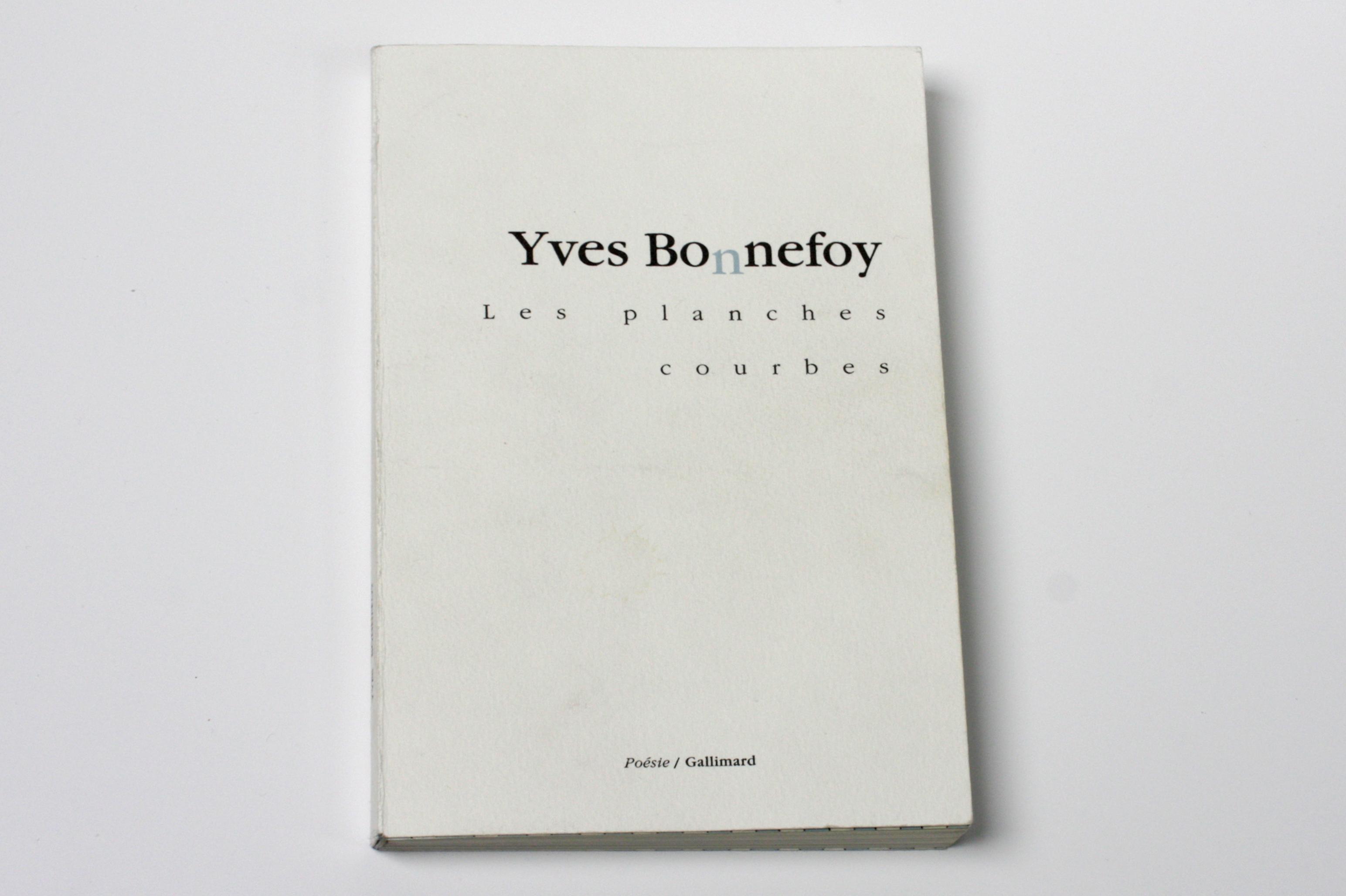 Les Planches Courbes Yves Bonnefoy Cobstudio