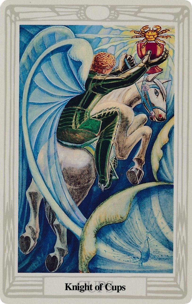 Knight of Cups - Thoth Tarot