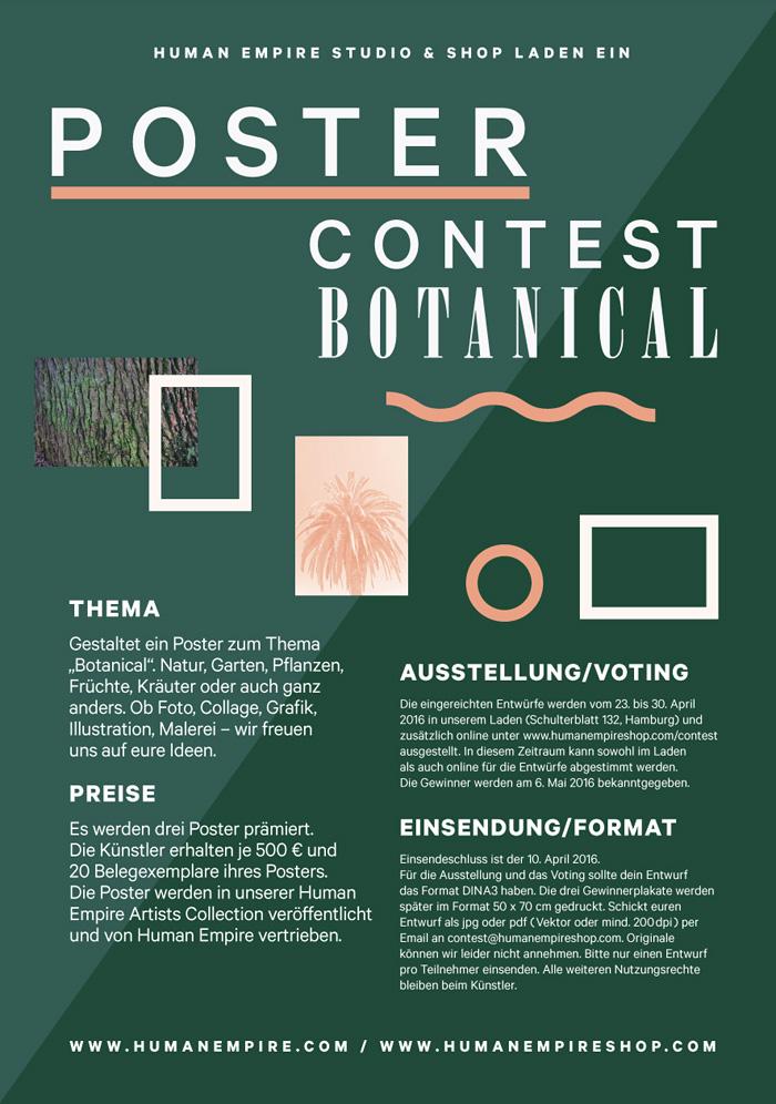 Botanical« Poster Contest - Human Empire Studio