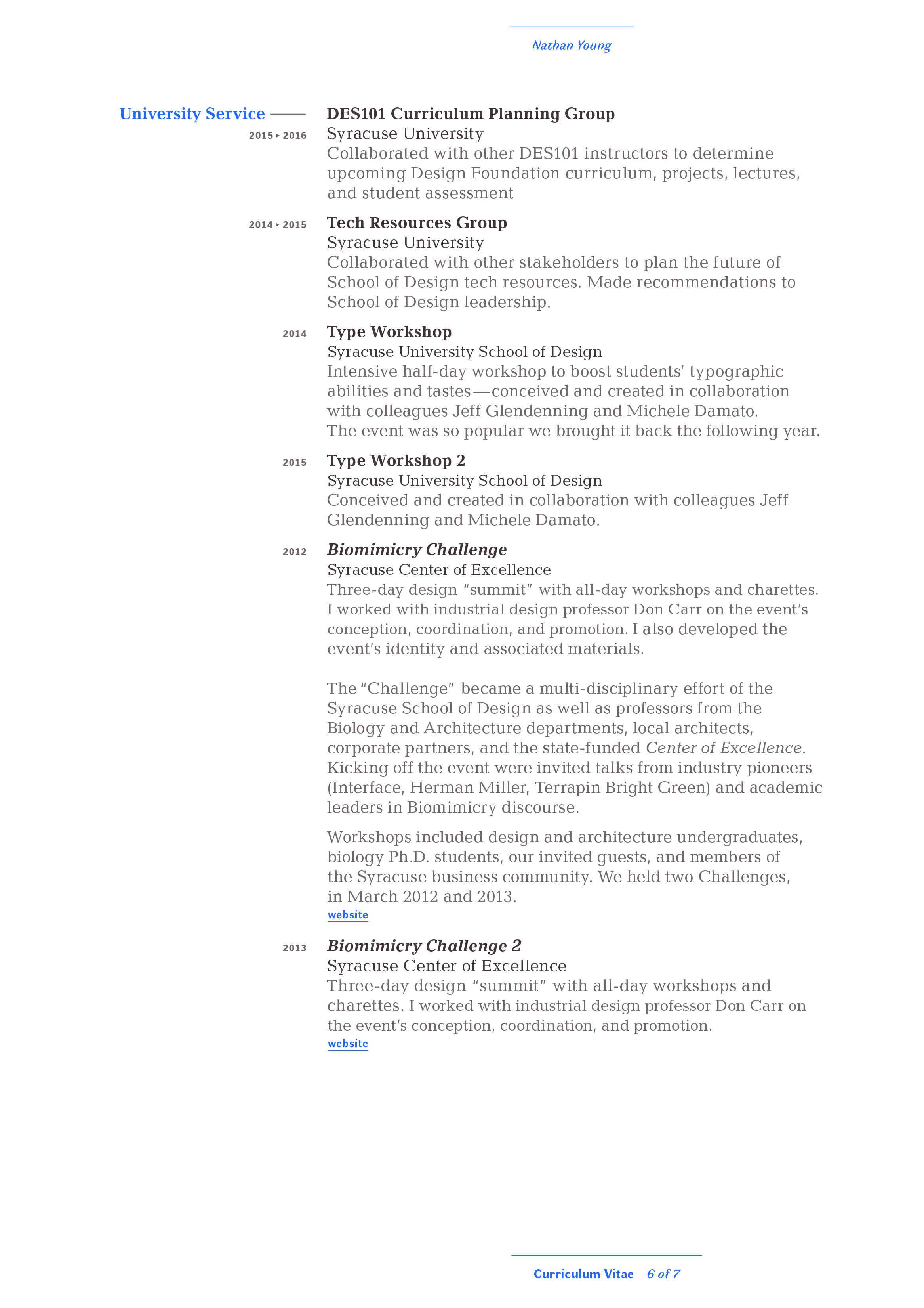 Curriculum Vitae - Nathan Young » Graphic Designer