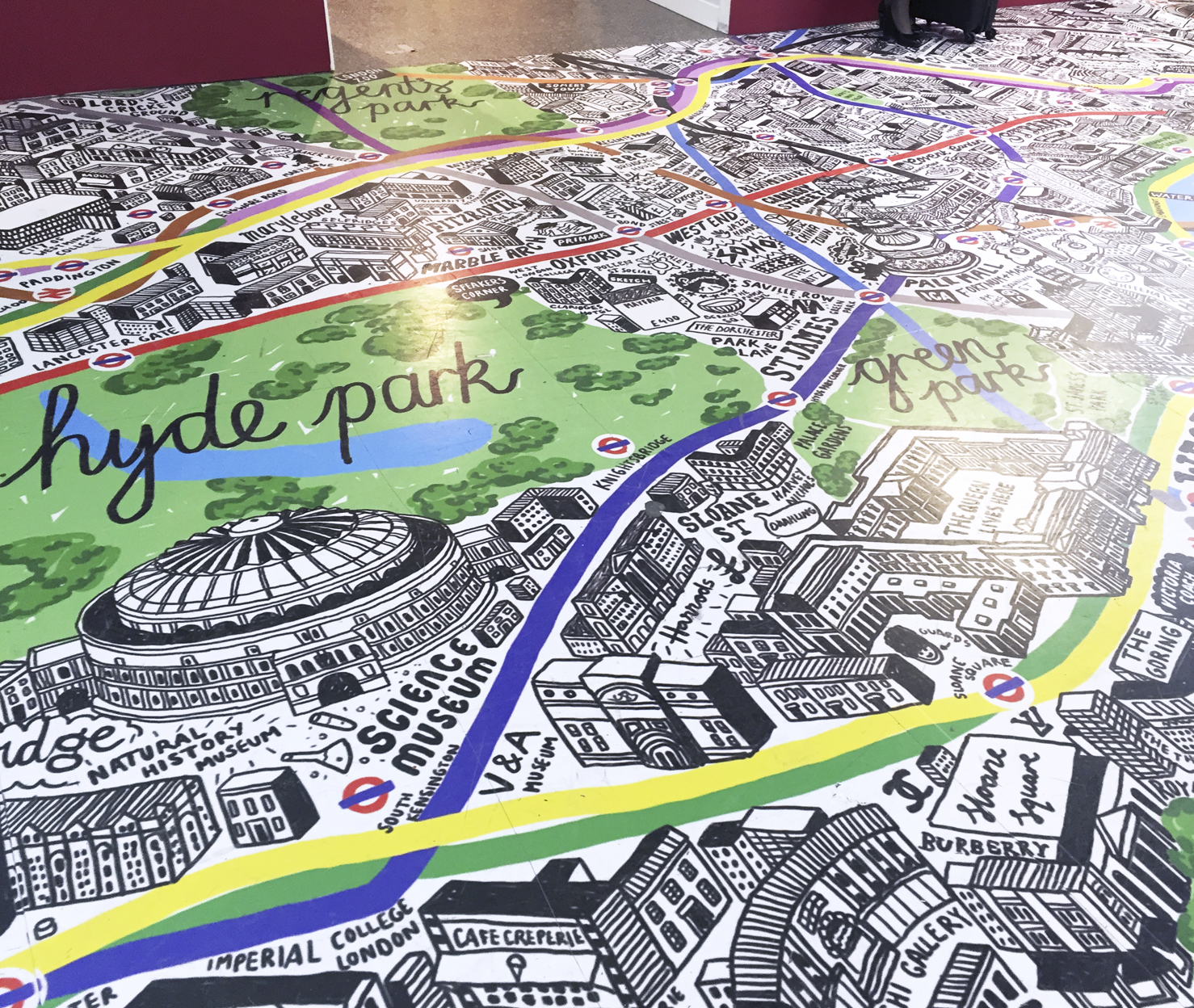 Hand Drawn Map Of London At Gatwick Airport Jenni Sparks