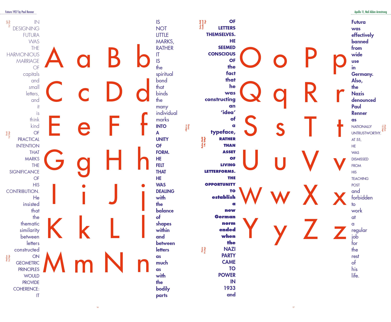Futura Type-Specimen book - Ran in the Park
