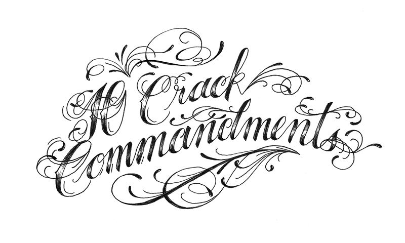 10 Crack Commandments Typography - sophia chang