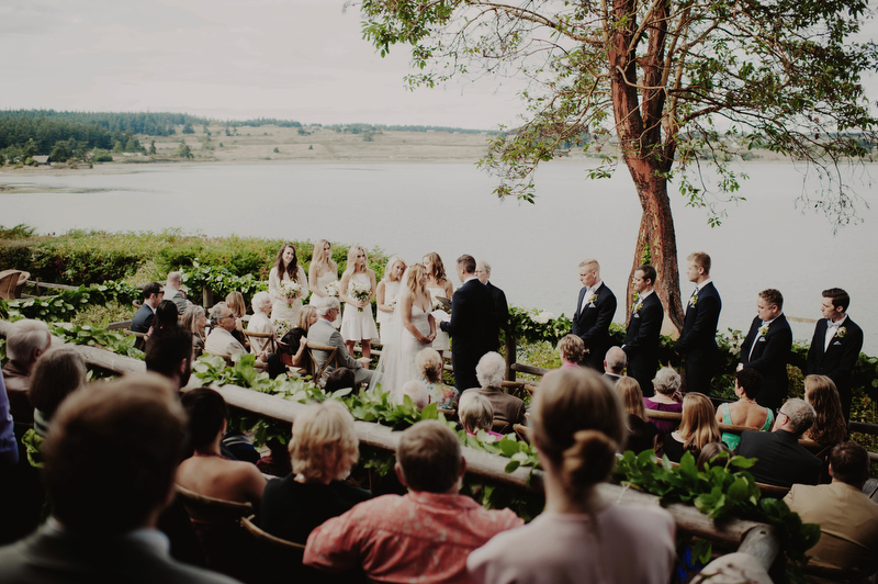 A wedding on the sound at the Captain Whidbey Inn—a serious contender for best wedding venues in Washington state.