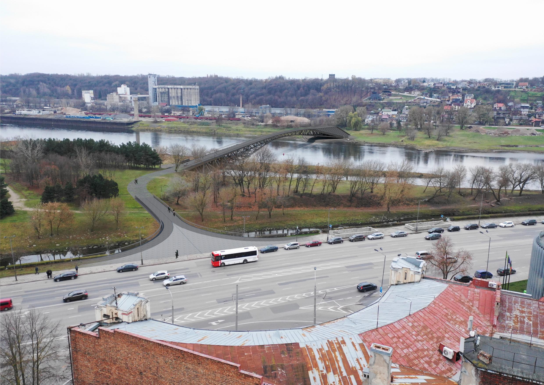 Kaunas Pedestrian Bridge - Architect Ivane Ksnelashvili