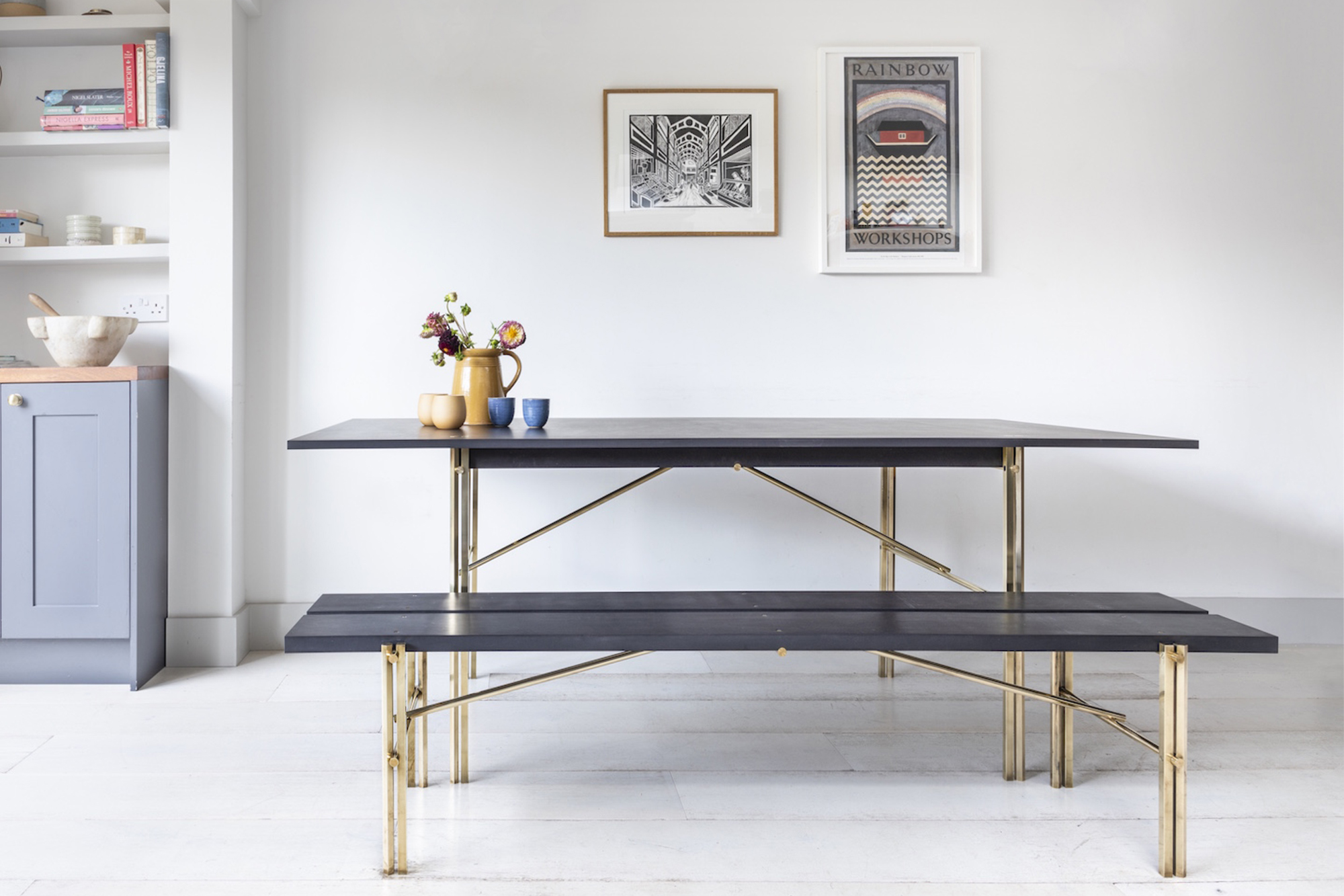 Tremendous Square Peg Table And Bench Studio In Place Gamerscity Chair Design For Home Gamerscityorg