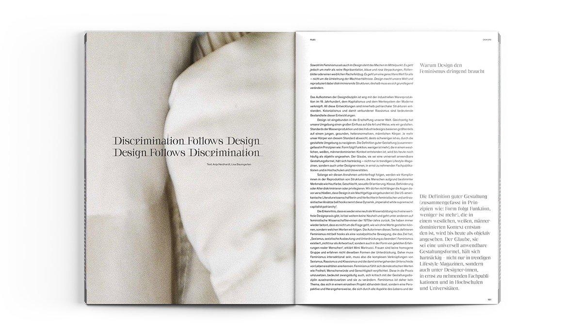 Artículo de Anja Neidhardt y Lisa Baumgarten publicado en FORM Magazine