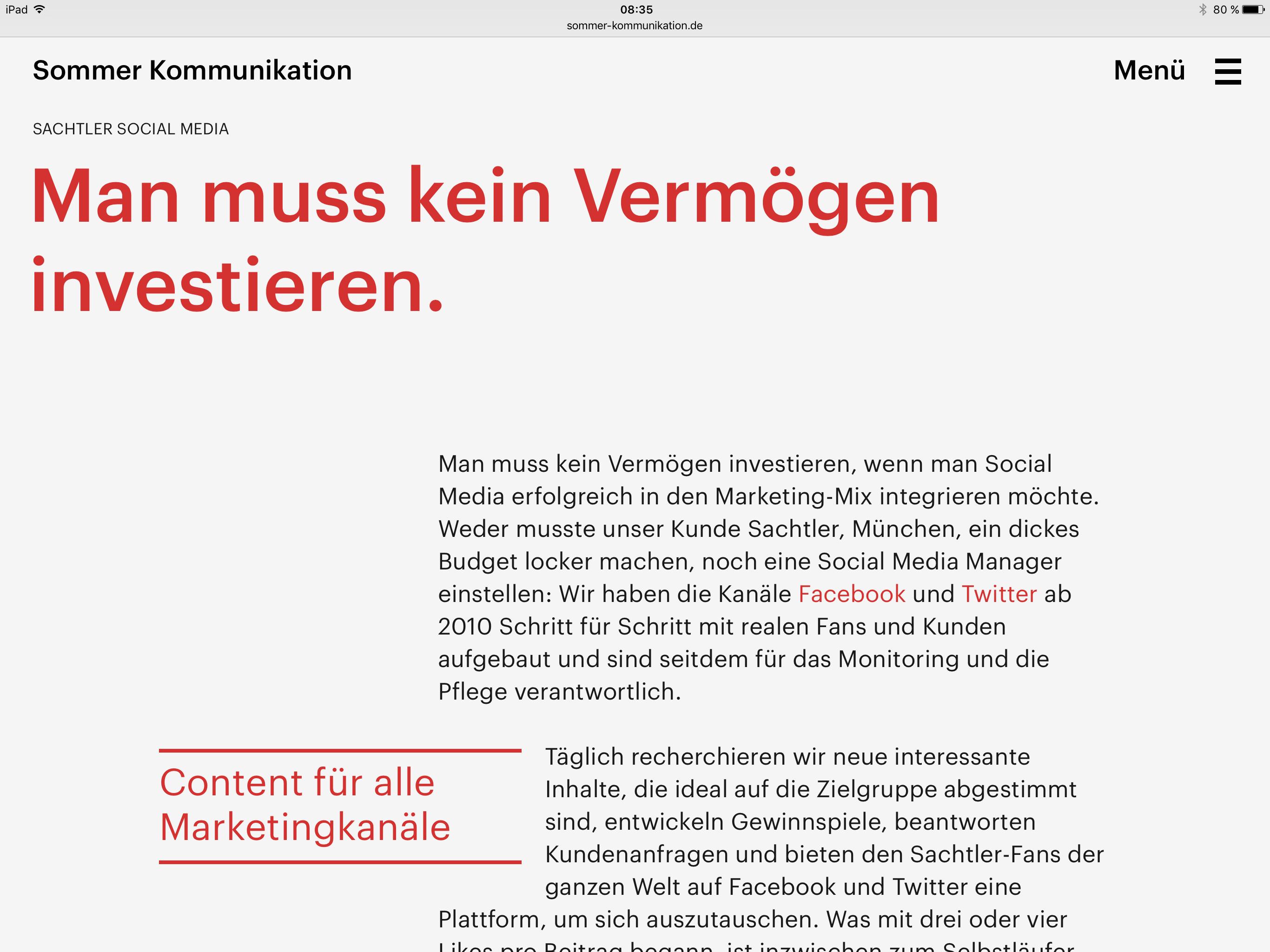 Agency website - Studio Frank Bernhard Uebler