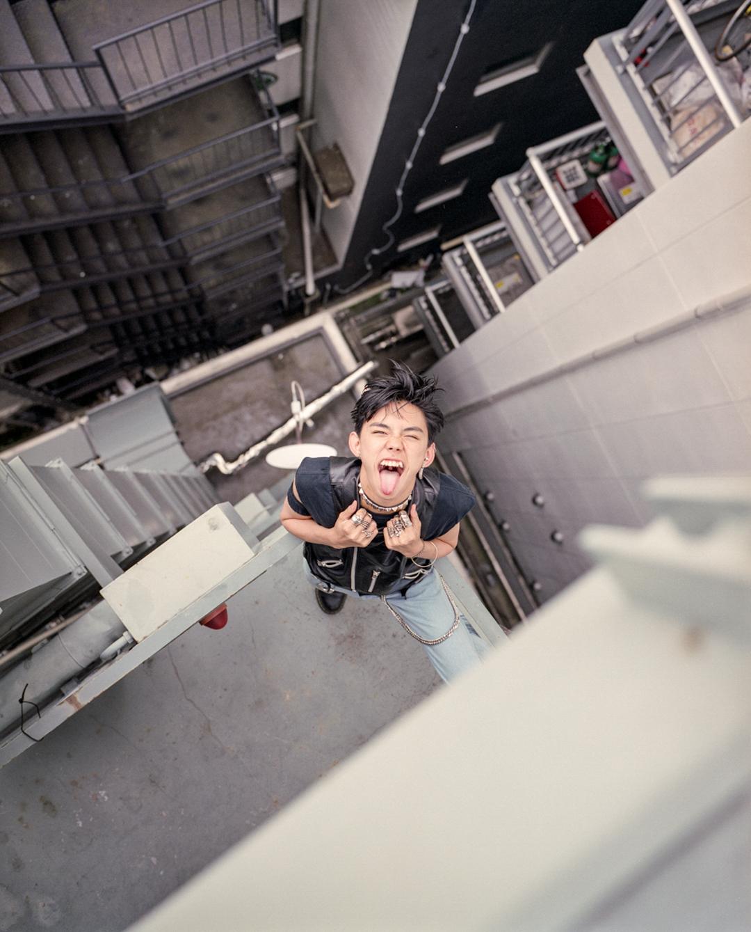 Shota having fun in Harajuku