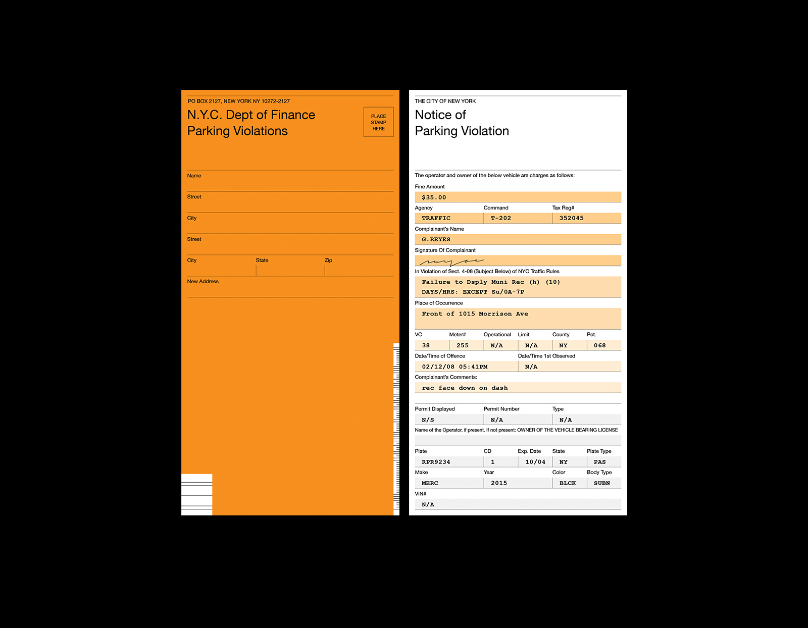 Nyc Traffic Ticket >> Nyc Parking Ticket Redesign Sophia Choi