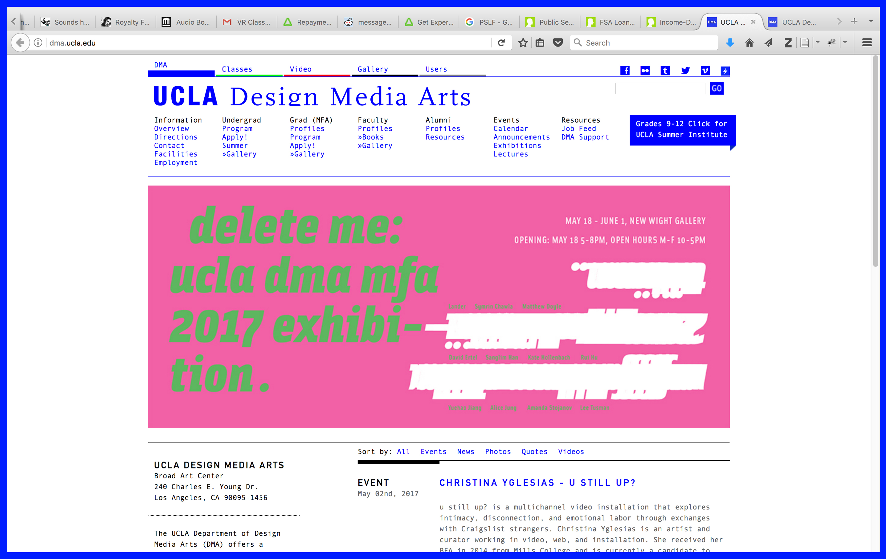 Ucla Calendar.Ucla Design Media Arts Amandastojanov