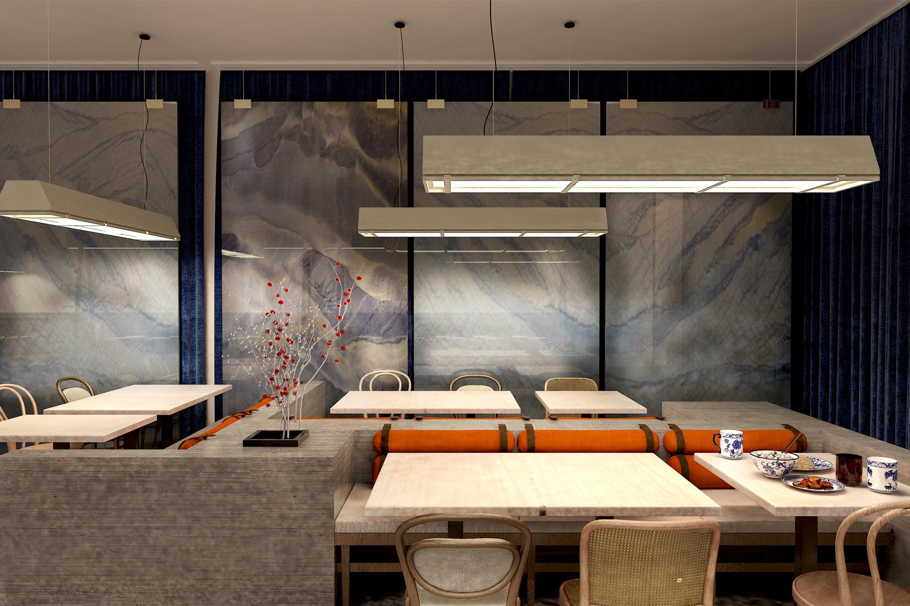 Chinese Restaurant Two Point Zero Interior Design Studio