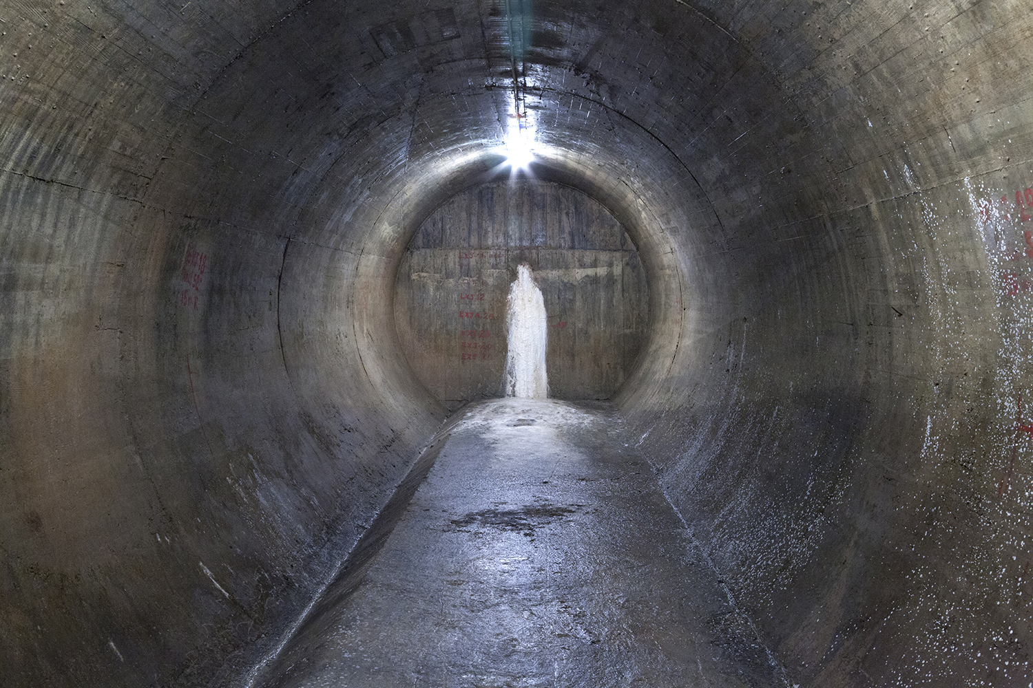 carina martins, vortex - tunnel dam tunel with calcarious in a form of a saint