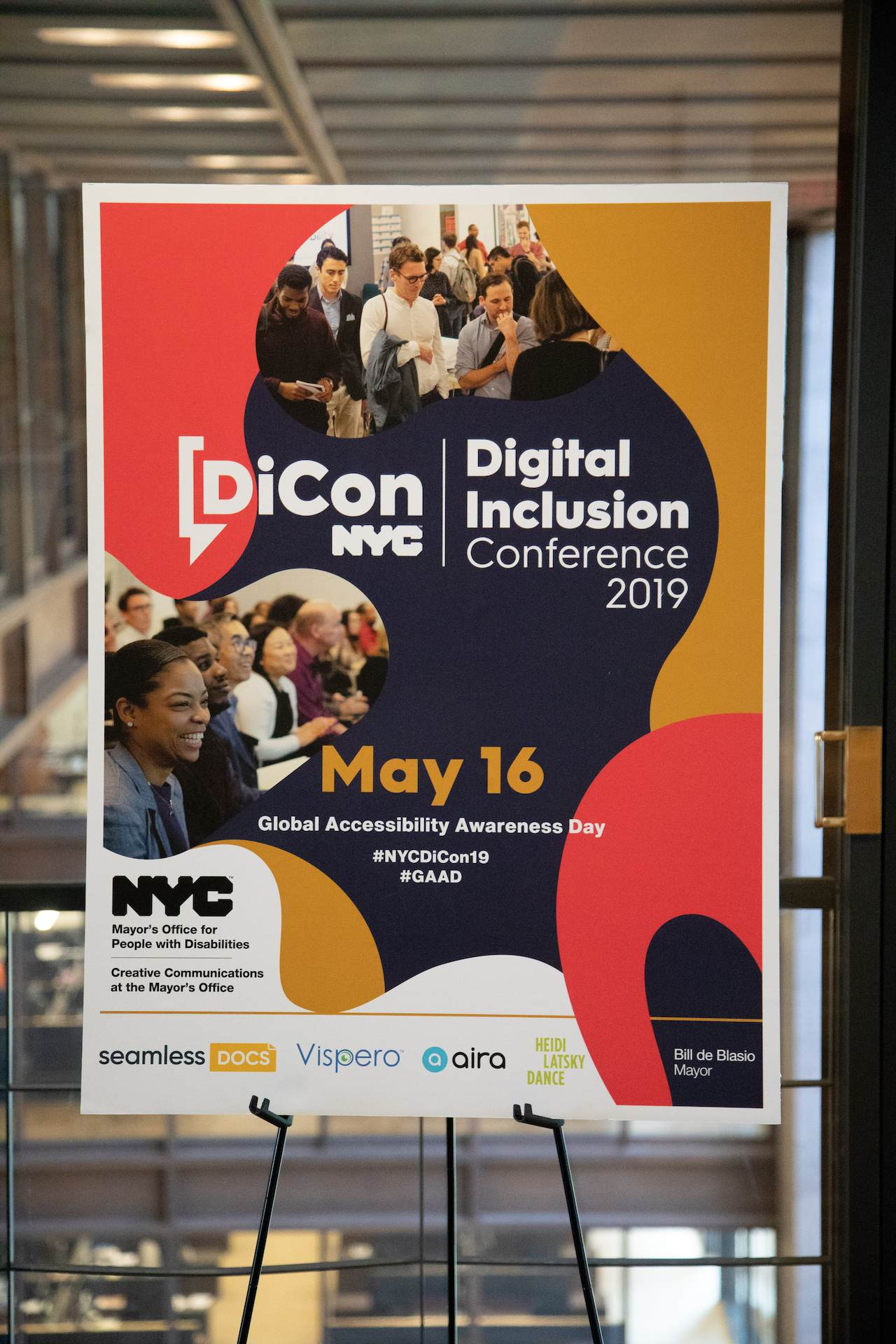 DiCon NYC Digital Inclusion Conference event welcome signage.