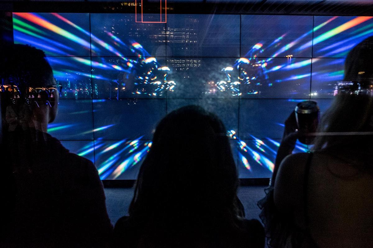 Nadim Samman Aurora Light Video Sound Biennial Electricity In Action