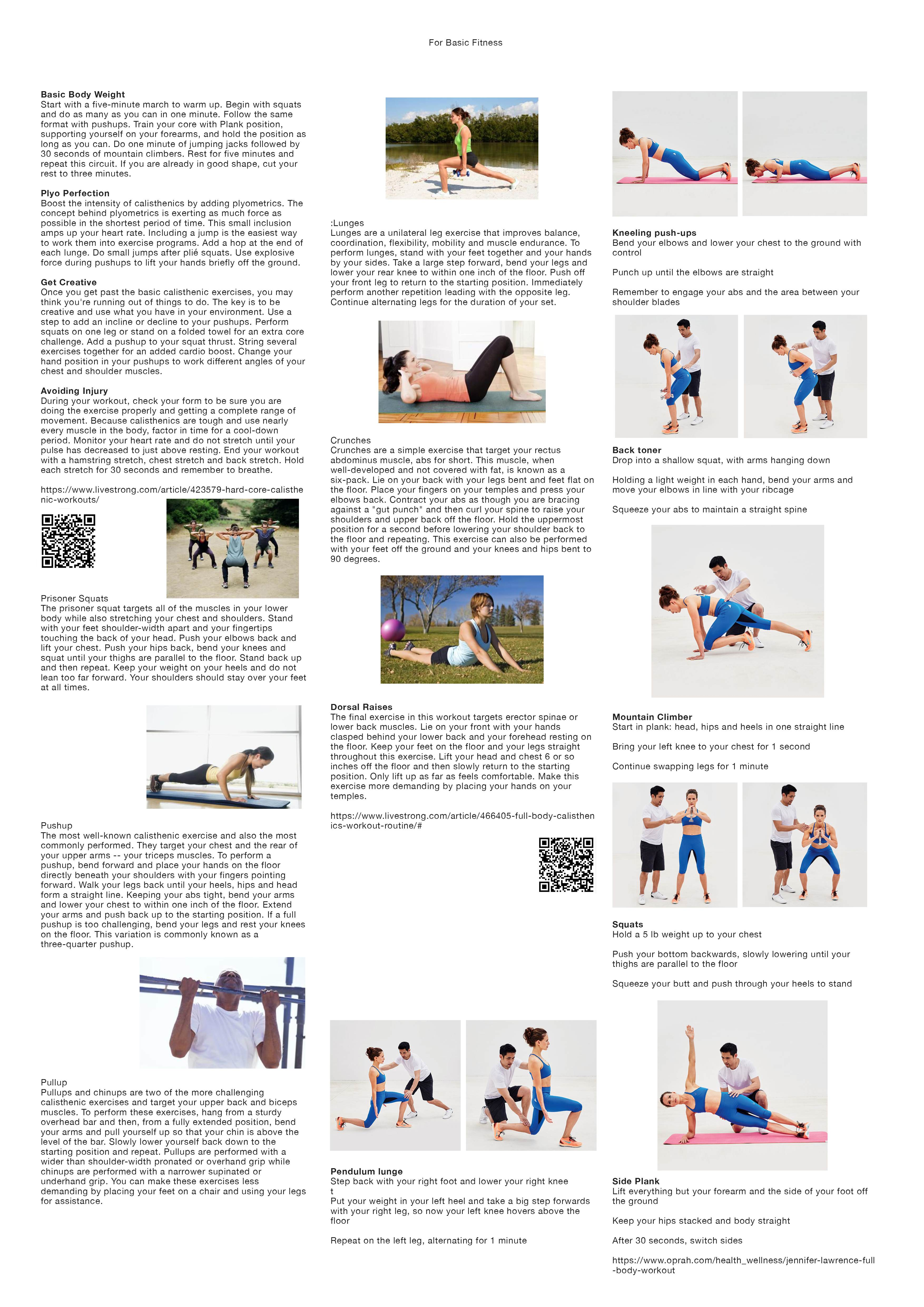 exercise posters free crystal j pei
