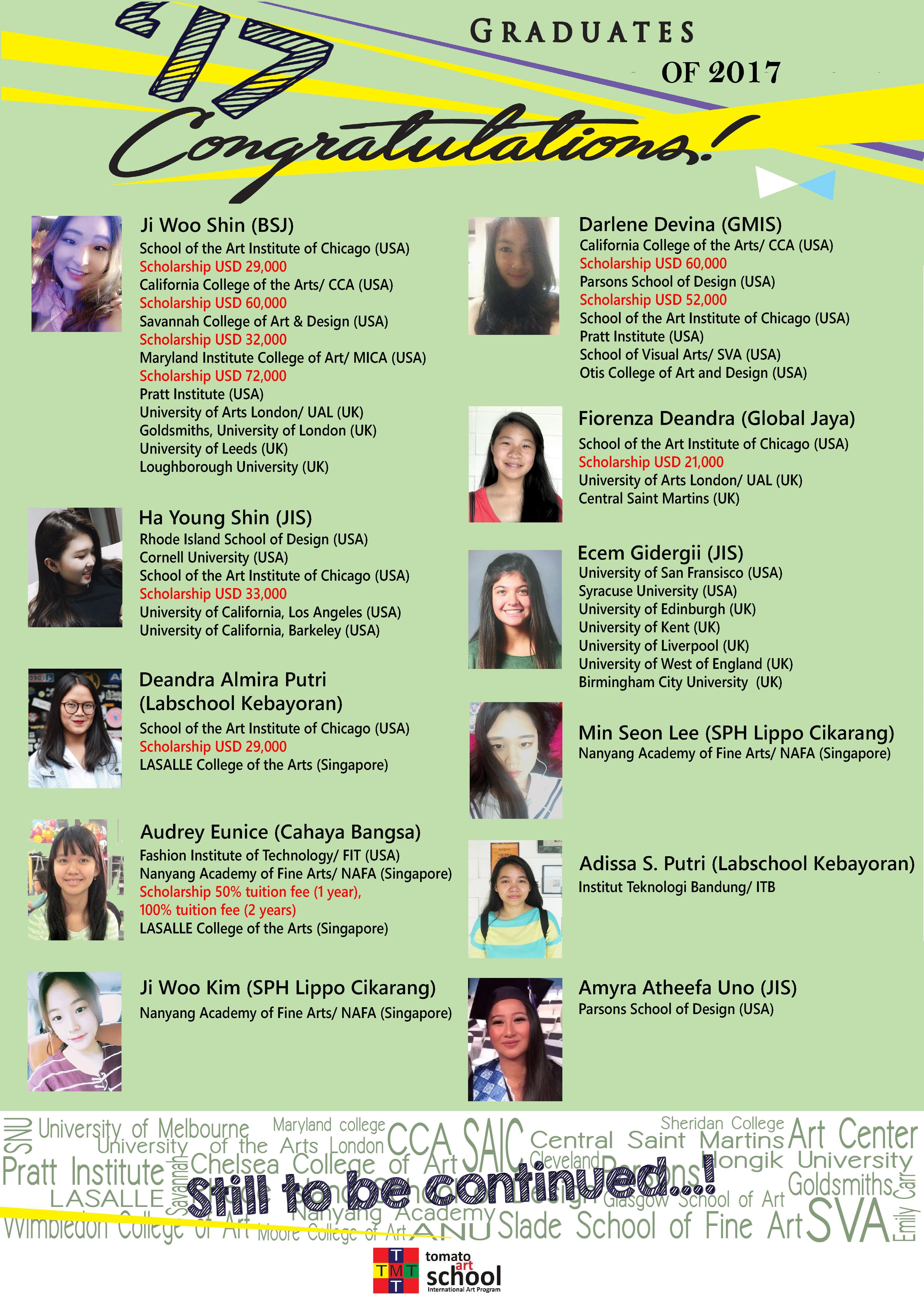 Alumni Tomatoartschool