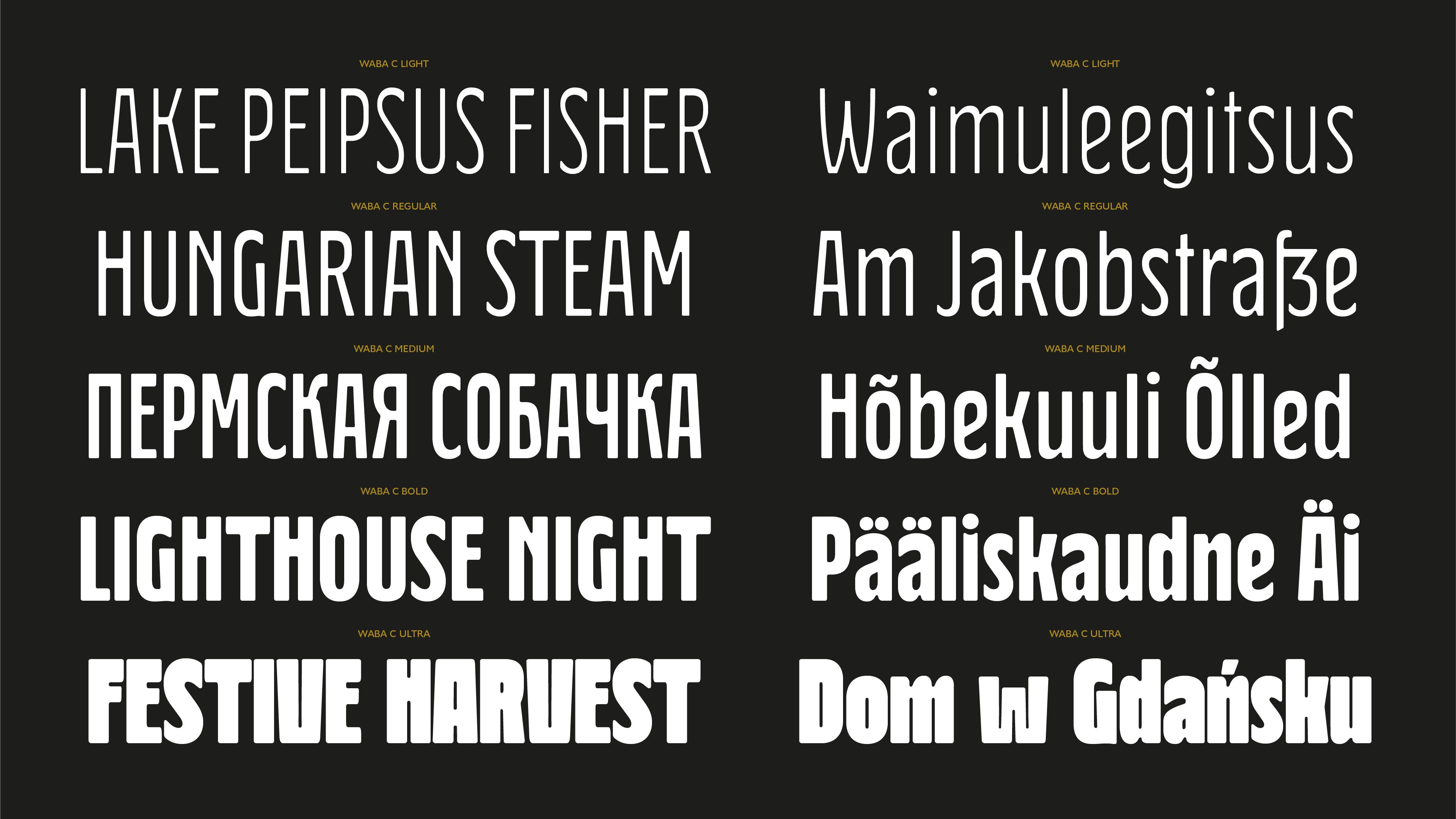 Waba Typeface - Lewis McGuffie | Signs & Designs