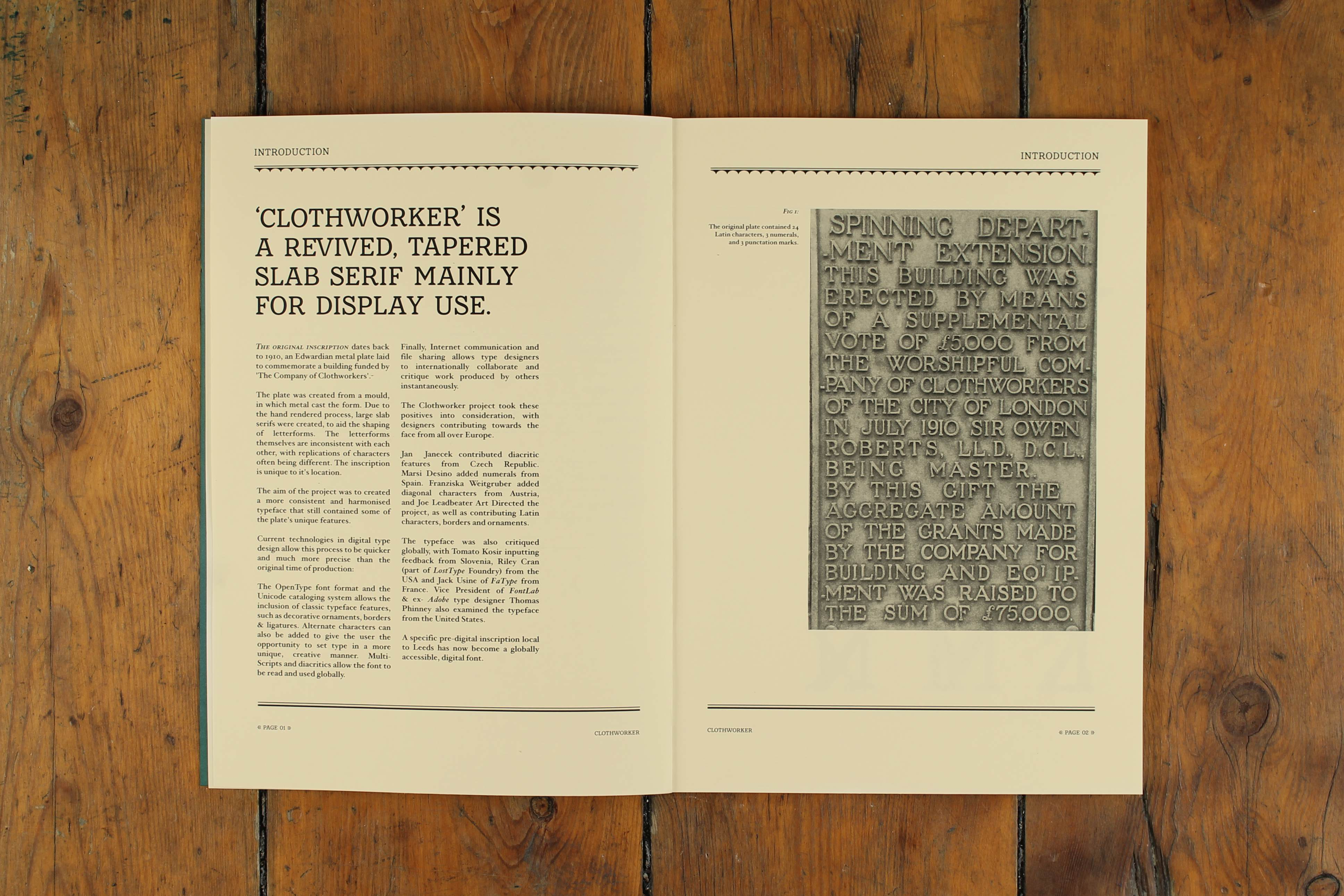 Clothworker - Joe Leadbeater → Graphic / Type Design