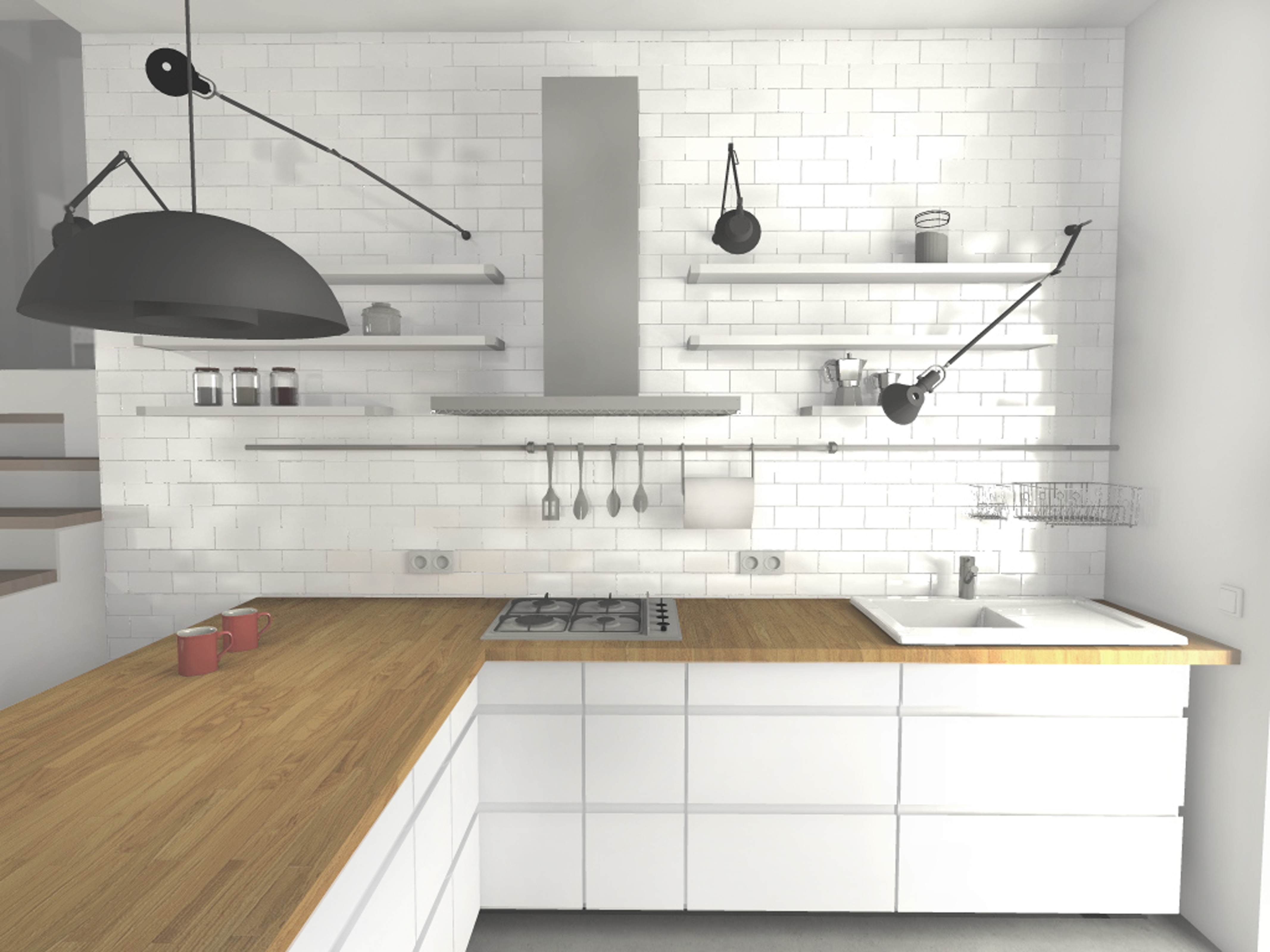 Kuchnia W Stylu Skandynawskim Marmur Studio L