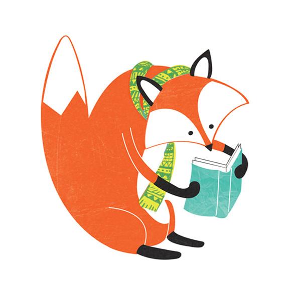 Bücherei clipart  Smart fox - pmafra