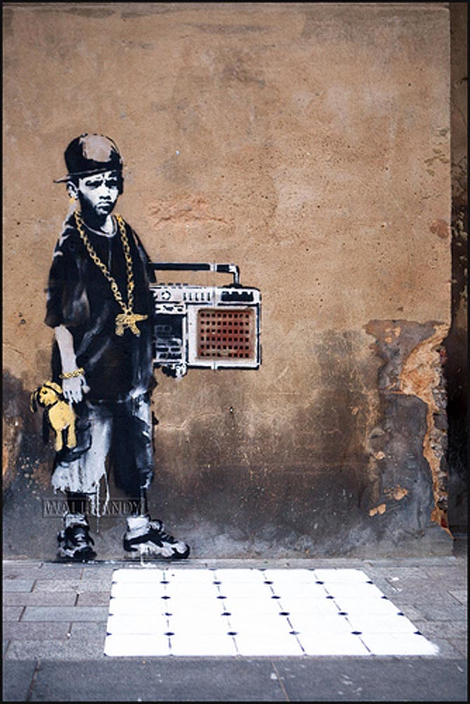 basura Arthur Conan Doyle ir a buscar  Banksy, B-boy, London - unurth